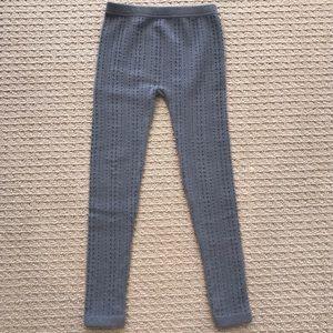 Other - Unworn! Grey Seamless Fleece-Lined Cable Legging